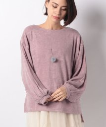 NICE CLAUP OUTLET/【natural couture】ネックレス付きトップス/500996620