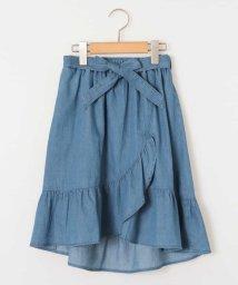 a.v.v(KID'S)/[140-150]サッシュリボン付フリルラップ風スカート/500915190