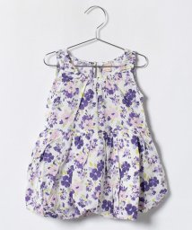 petit main/花柄裾バルーンノースリーブワンピース/500996424