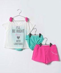 Lovetoxic/肩リボンつきロゴTシャツ×ショートパンツ×タンキニセット/500996463