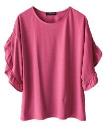 SocialGIRL/ゆったり袖フリルTシャツ/500960129