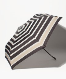 Afternoon Tea LIVING/パネルボーダー柄折りたたみ傘雨傘/500985225