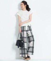 JIYU-KU /【洗える】RIOPELEグランドチェック パンツ/501008552