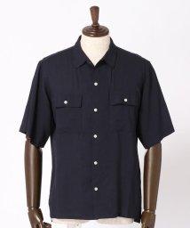 vital/リネン混オープンカラーシャツ/500980613