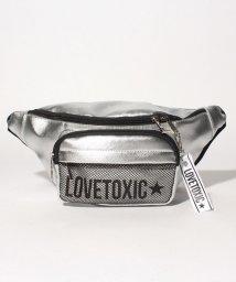 Lovetoxic/メッシュポケットつきフェイクレザーウエストバッグ/501002242