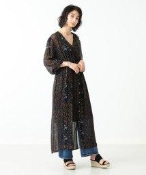 Demi-Luxe BEAMS/ne Quittez pas / フラワー ジョーゼットロングドレス/501003059