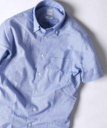 SHIPS MEN/SD: 『カラミ』ソリッド イタリアンボタンダウン ショートスリーブ(半袖) シャツ(ブルー)/501009248