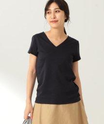 Demi-Luxe BEAMS/【洗える】Demi-Luxe BEAMS / リヨセル ベーシックVネックTシャツ/500963890