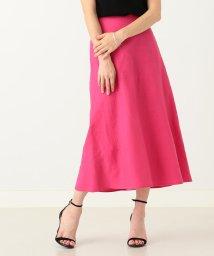 Demi-Luxe BEAMS/【洗える】Demi-Luxe BEAMS / リネン フィット&フレアスカート/500971297