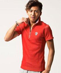 VIOLA/VIOLA【ヴィオラ】VIOLA パイピングハーフジップ半袖ポロシャツ/501013121