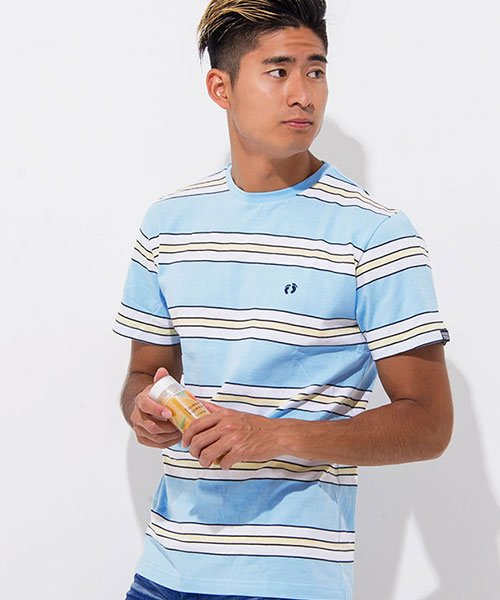 HANG TEN(ハンテン)/HANG TEN【ハンテン】ボーダー柄クルーネック半袖Tシャツ/H3856