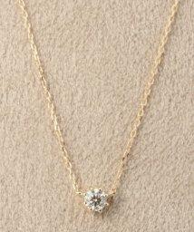 DECOUVERTE/18KYG 0.1ct ダイヤモンド ネックレス H&C/501013648