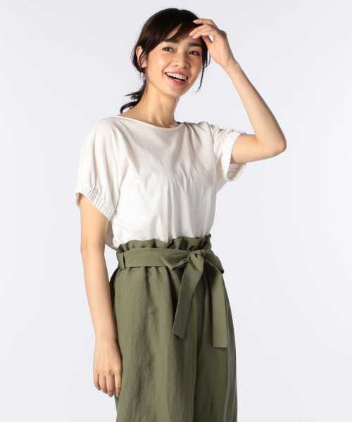NOLLEY'S(ノーリーズ)/ドライコットンパフスリーブTシャツ/8-0040-3-03-001