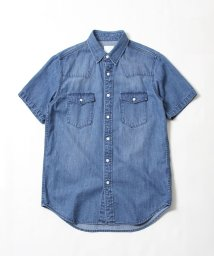 coen/デニムウエスタンショートスリーブシャツ/501009577