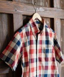 coen/40チェックボタンダウンシャツ/501009578