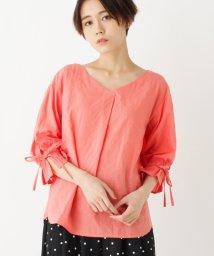 pink adobe/袖リボンブラウス/501014180