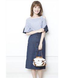 JUSGLITTY/サスペ付フロントボタンタイトスカート/501014335