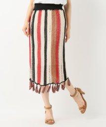 SLOBE IENA/SARA LAM CROCHET ストライプスカート/501014494