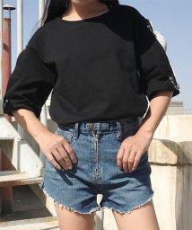 miniministore/レディーストップス トップス Tシャツ カットソー リング付き 無地 カジュアル/501014798