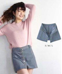 miniministore/デニムスカート パンツ付き 台形スカート ミニスカート ショーパン デニム 美脚/501014800