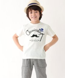 3can4on(Kids)/マスタッシュプリントTシャツ/501014891