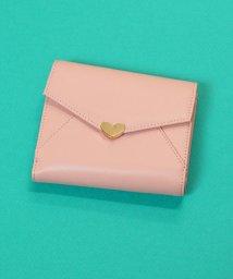 ninon/【牛革】シンプルハートチャーム二つ折り財布/ウォレット/501015923