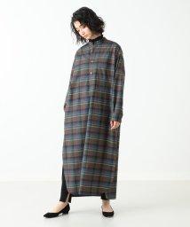Demi-Luxe BEAMS/AURALEE / ウールチェック シャツドレス/501016057