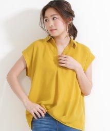 SocialGIRL/刺繍 スキッパーシャツ /500769209