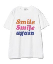 BEAMS OUTLET/BEAMS / スマイルロゴ プリント Tシャツ/500848177