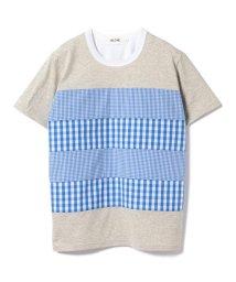 BEAMS MEN/ALOYE × BEAMS T / 別注 Shirt Fabric Short Sleeve Tee/500924158
