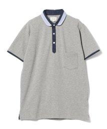 BEAMS MEN/BEAMS / ショールカラー 切替 ポロシャツ/500980468