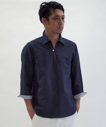NOLLEY'S goodman/綿麻スキッパープルオーバーシャツ/501006243