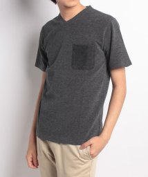 nano・universe/:黒硫化染めVネックポケTシャツ/501007728