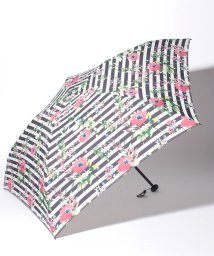 Afternoon Tea LIVING/フラワーボーダー柄軽量折りたたみ傘 雨傘/501008435