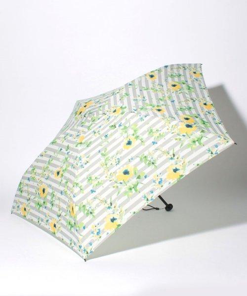 Afternoon Tea LIVING(アフタヌーンティー・リビング)/フラワーボーダー柄軽量折りたたみ傘 雨傘/FG5218100597