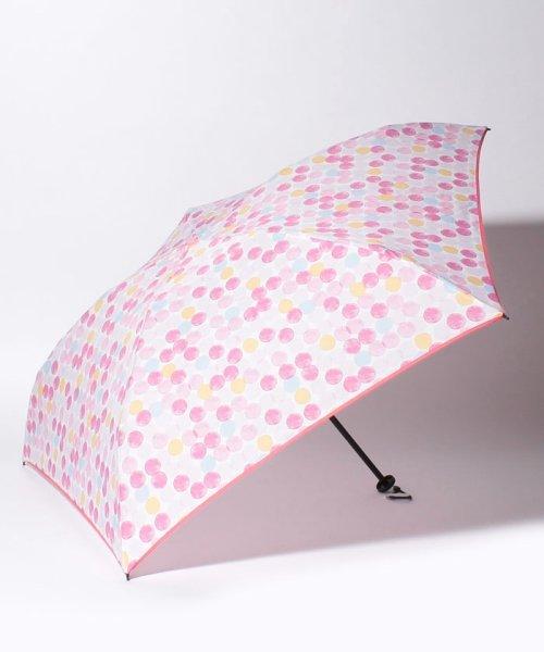 Afternoon Tea LIVING(アフタヌーンティー・リビング)/カラフルドット柄軽量折りたたみ傘 雨傘/FG5418100606