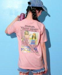 ANAP GiRL/後ろ新聞柄Tシャツ/501009948