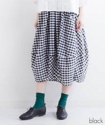fillil/【ナチュラン掲載】ギンガムチェックバルーンスカート【ブランド:fillil】/501013599
