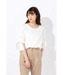 NATURAL BEAUTY BASIC/リボンスリーブシャツ/501013806