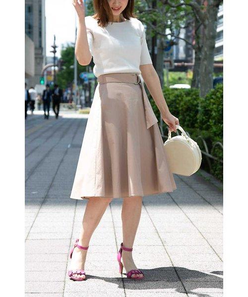 PROPORTION BODY DRESSING(プロポーション ボディドレッシング)/ニドムサッシュフレアースカート/1218120511