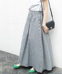 SLOBE IENA/《WEB限定・追加2予約》リネンギャザースカート◆/501019443