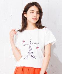 en recre/【Nouque】パリモチーフTシャツ /501006853