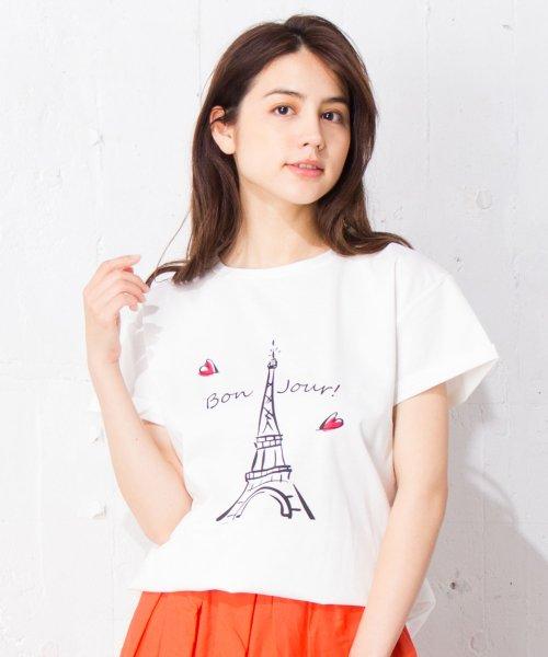 en recre(アン レクレ)/【Nouque】パリモチーフTシャツ /6801852