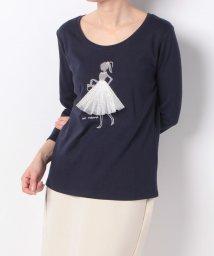 en recre/バレリーナモチーフTシャツ  /501006871