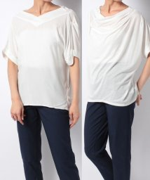 NICE CLAUP OUTLET/【natural couture】PP抜き衿ドレープ2WAY/501007508