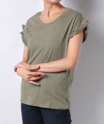 NICE CLAUP OUTLET/【natural couture】PPフリンジ袖Tシャツ/501007510