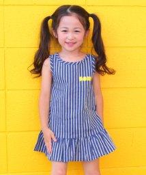 ANAP KIDS/ストライプ柄裾フリルワンピース/501014444