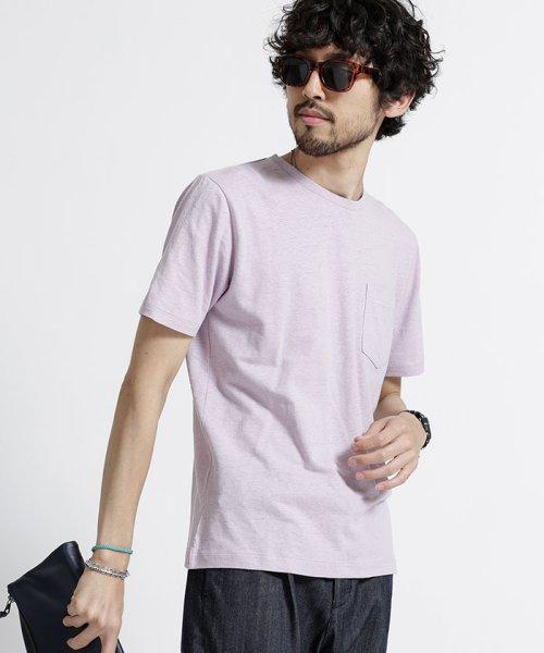 nano・universe(ナノ・ユニバース)/綿麻スラブクルーTシャツ/6688124502