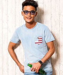 CavariA/CavariA【キャバリア】星条旗柄ポケット付きプリントクルーネック半袖Tシャツ/501025659