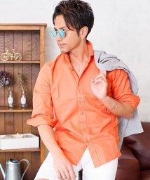 VICCI/VICCI【ビッチ】パナマ織りホリゾンタルカラー七分袖シャツ/501025692